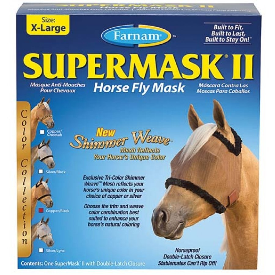 Supermask 2 Fly Mask / Size (XL Horse w/o Ears Copper/Black) Best Price