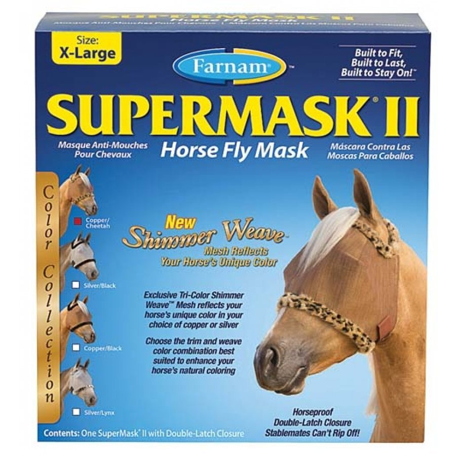 Supermask 2 Fly Mask / Size (XL Horse w/o Ears Copper/Cheetah) Best Price