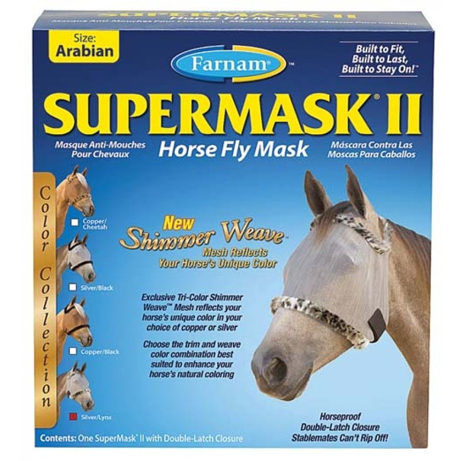 Supermask 2 Fly Mask / Size (Arabian w/o Ears Silver/Lynx) Best Price