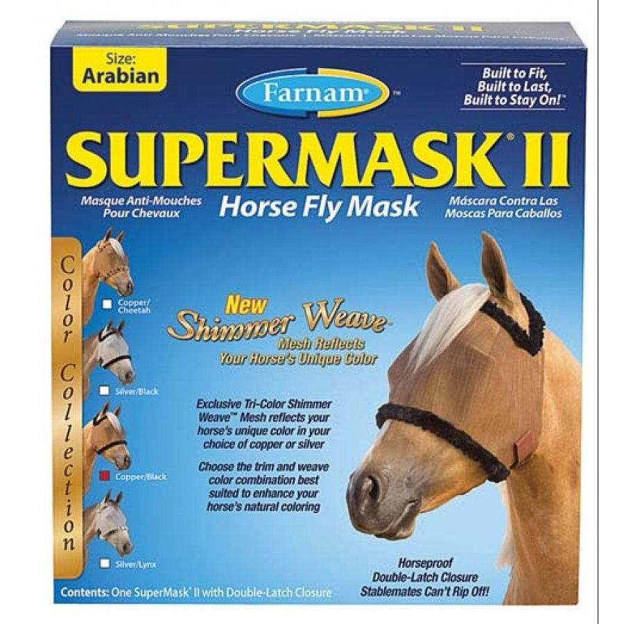 Supermask 2 Fly Mask / Size (Arabian w/o Ears Copper/Black) Best Price