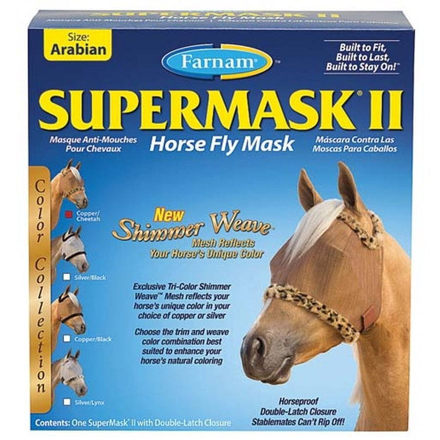 Supermask 2 Fly Mask / Size (Arabian w/o Ears Copper/Cheetah) Best Price