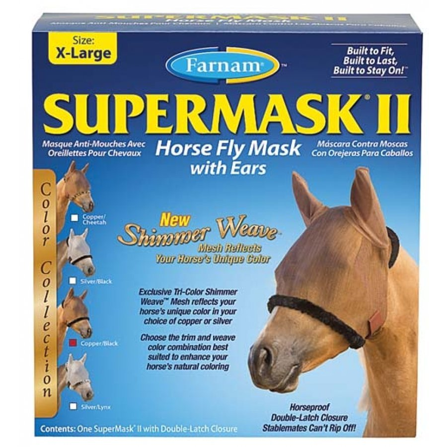 Supermask 2 Fly Mask / Size (XL Horse w/Ears Copper/Black) Best Price