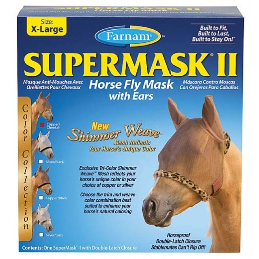 Supermask 2 Fly Mask / Size (XL Horse w/Ears Copper/Cheetah) Best Price