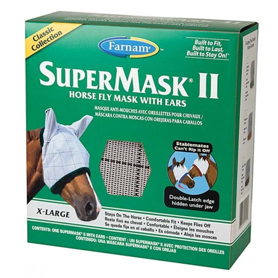 Supermask 2 Fly Mask / Size (XL Horse - w/Ears Classic) Best Price