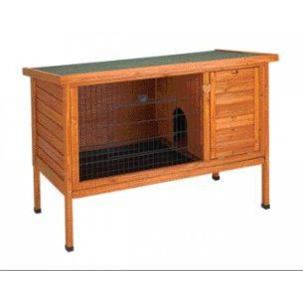 Premium Outdoor Wood Rabbit Hutch / Size Medium