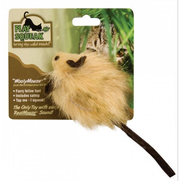Play-N-Squeak Wooly Mouse Cat Toy Best Price