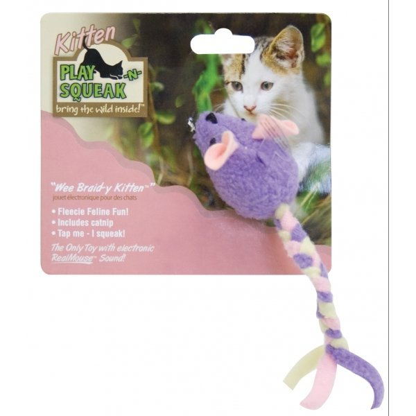 Play-N-Squeak Wee Braid-Y Kitten Cat Toy Best Price