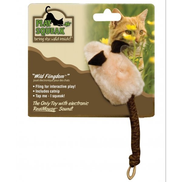 Play-N-Squeak Wild Flingdom Mouse Cat Toy Best Price