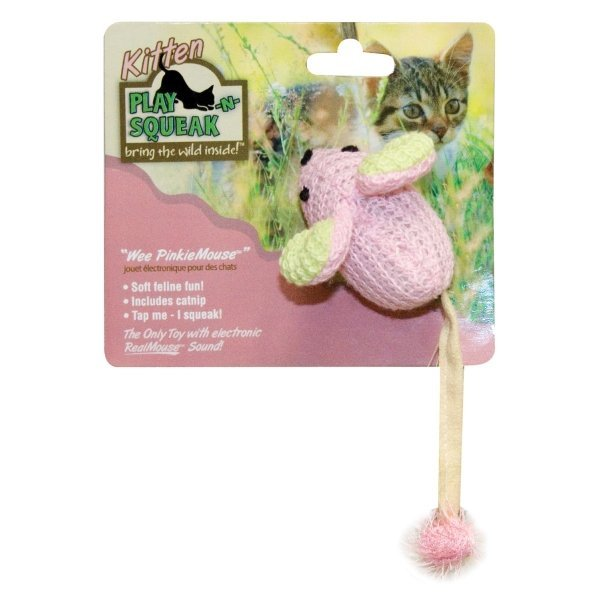 Play-N-Squeak Wee PinkieMouse Cat Toy Best Price