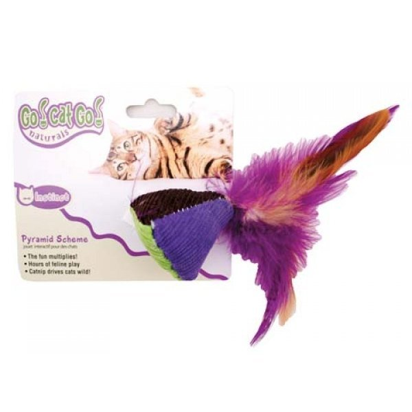 Pyramid with Feathers Cat Toy Best Price