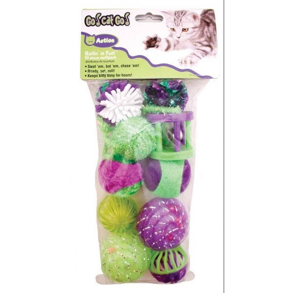 Rollin In Fun Cat Toy / Size (Large / 10 pc) Best Price