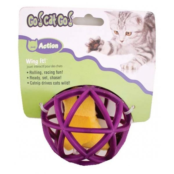 Bird In Cage - Wing It Ball Cat Toy Best Price
