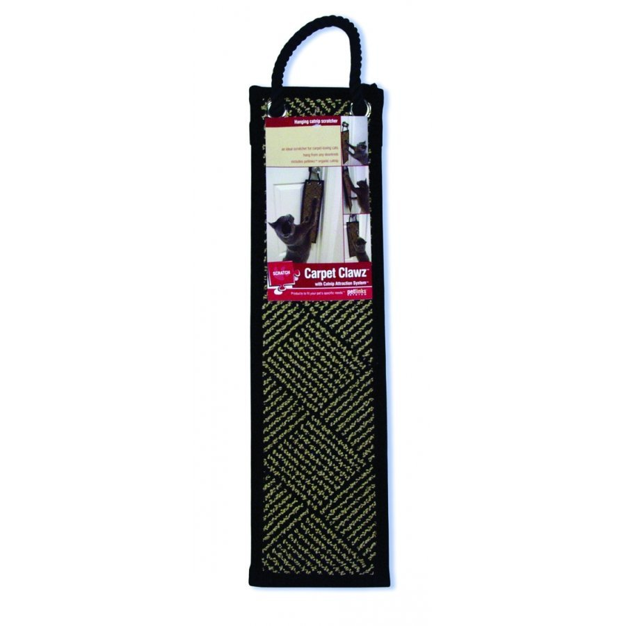 Carpet Clawz Hanging Catnip Scratcher 20 In.