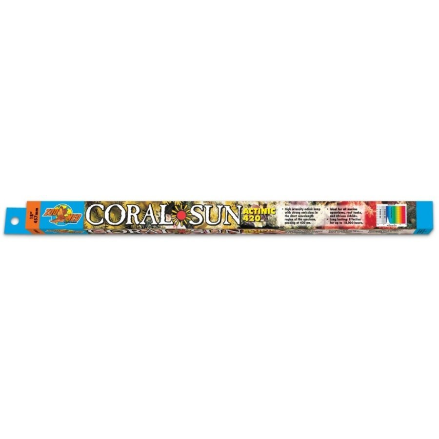 Coral Sun Actinic 420 Coral Bulb / Size 18 In.