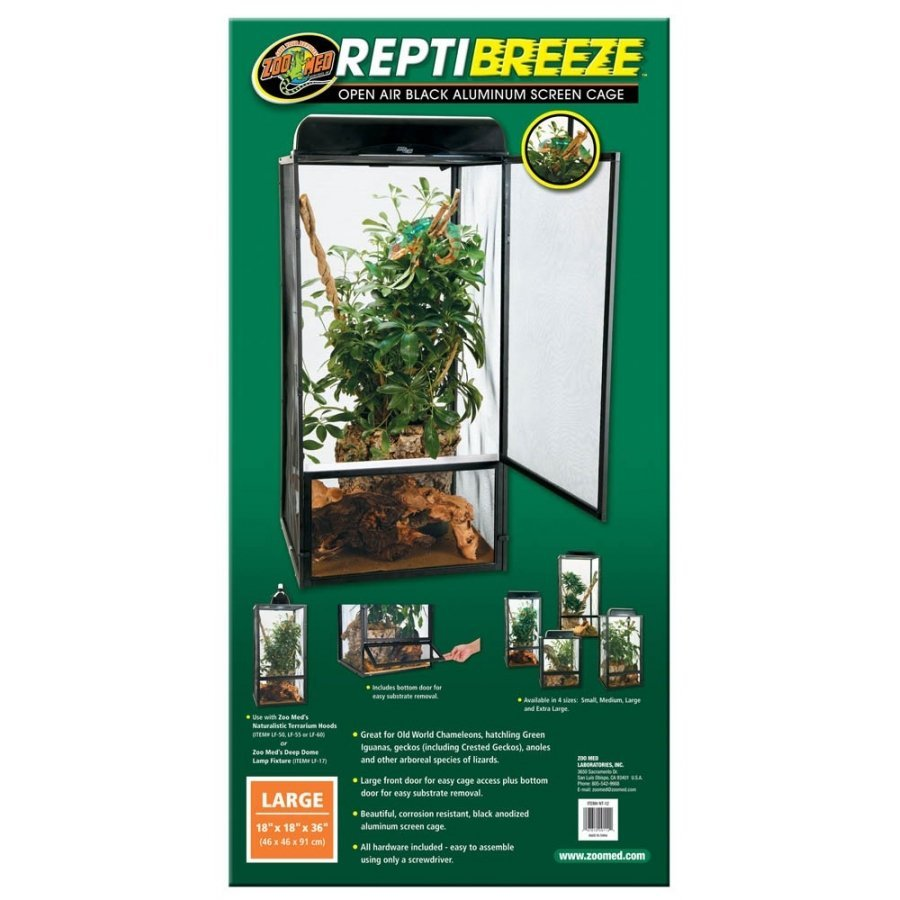 Reptibreeze Open Air Screen Cage / Size Large