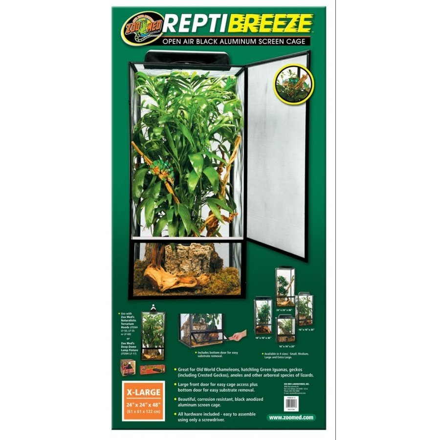 Reptibreeze Open Air Screen Cage / Size Xlarge