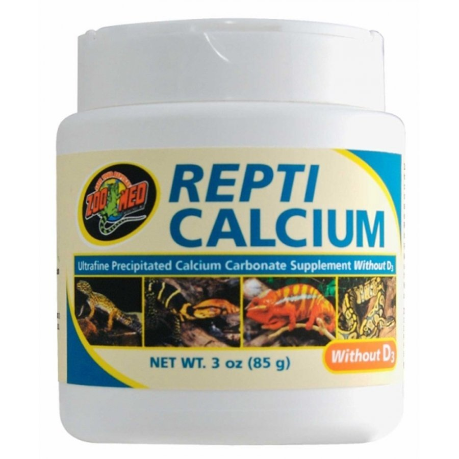 Repti Calcium Without D3 Reptile Supplement / Size 3 Oz.