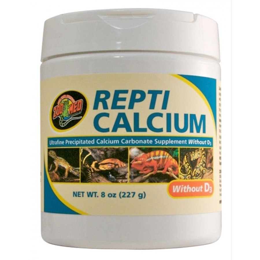 Repti Calcium Without D3 Reptile Supplement / Size 8 Oz.