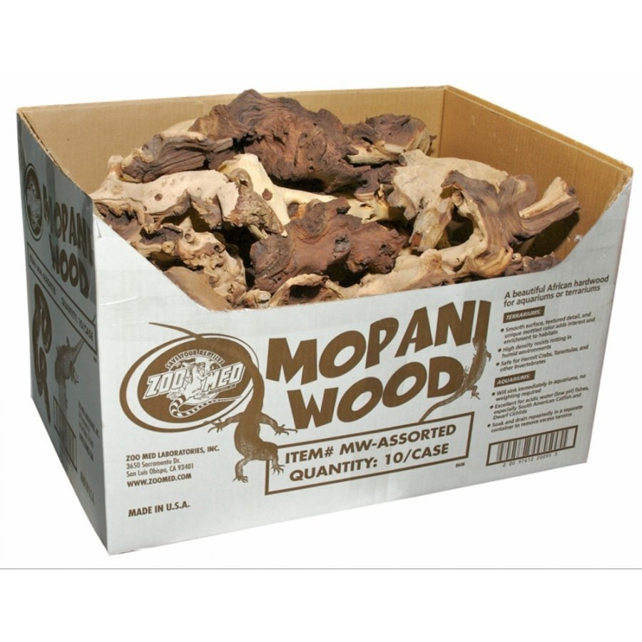 Mopani Wood Decorations For Aquariums / Size Medium