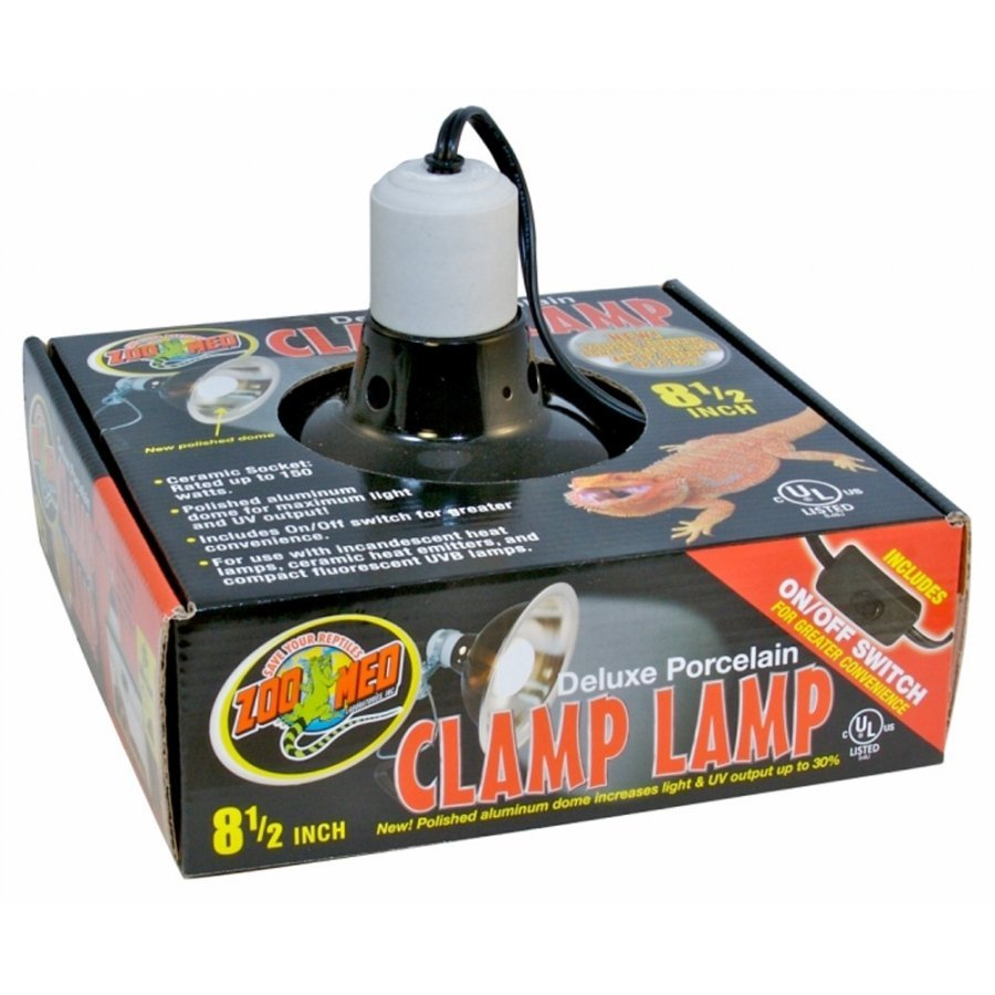 Deluxe Porcelain Clamp Lamp 8.5 In.