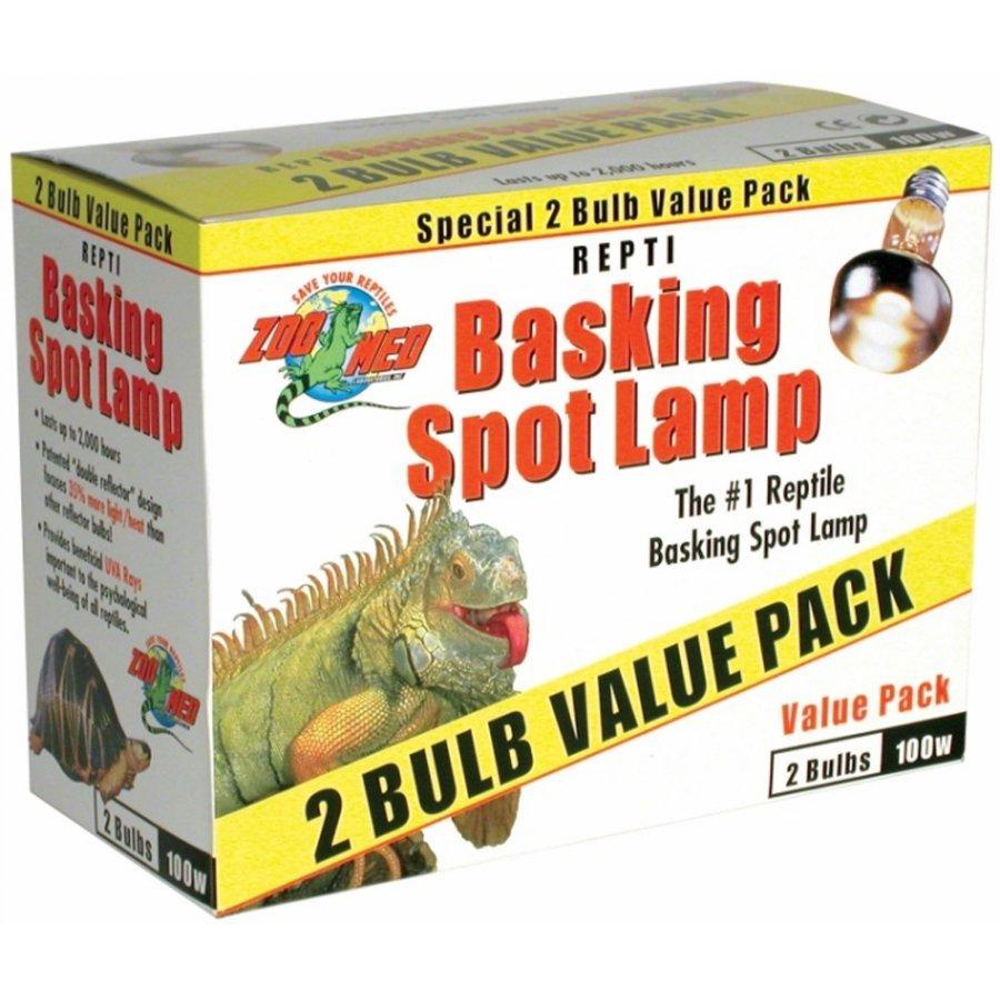 Repti Basking Spot Lamp / Type 100 Watt / 2 Pack