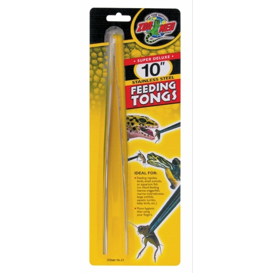Reptile Stainless Steel Feeding Tongs 10 In.