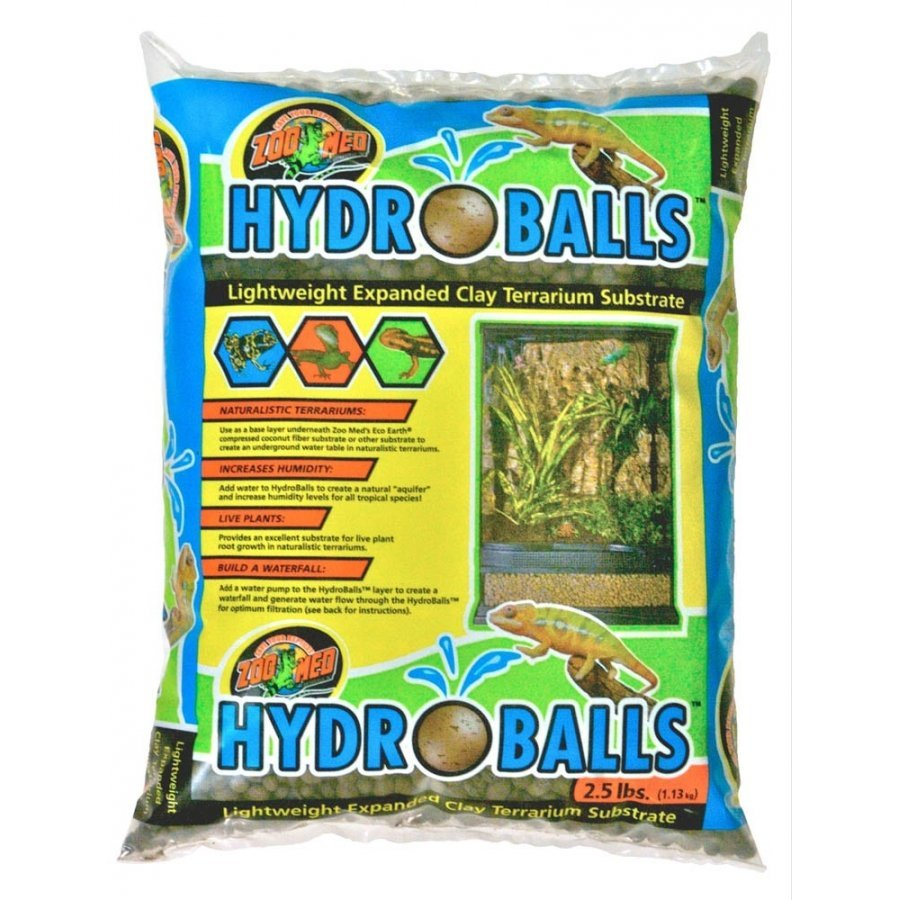 Hydroballs Lightweight Expanded Clay Terrarium Substrate 2.5 Lb.