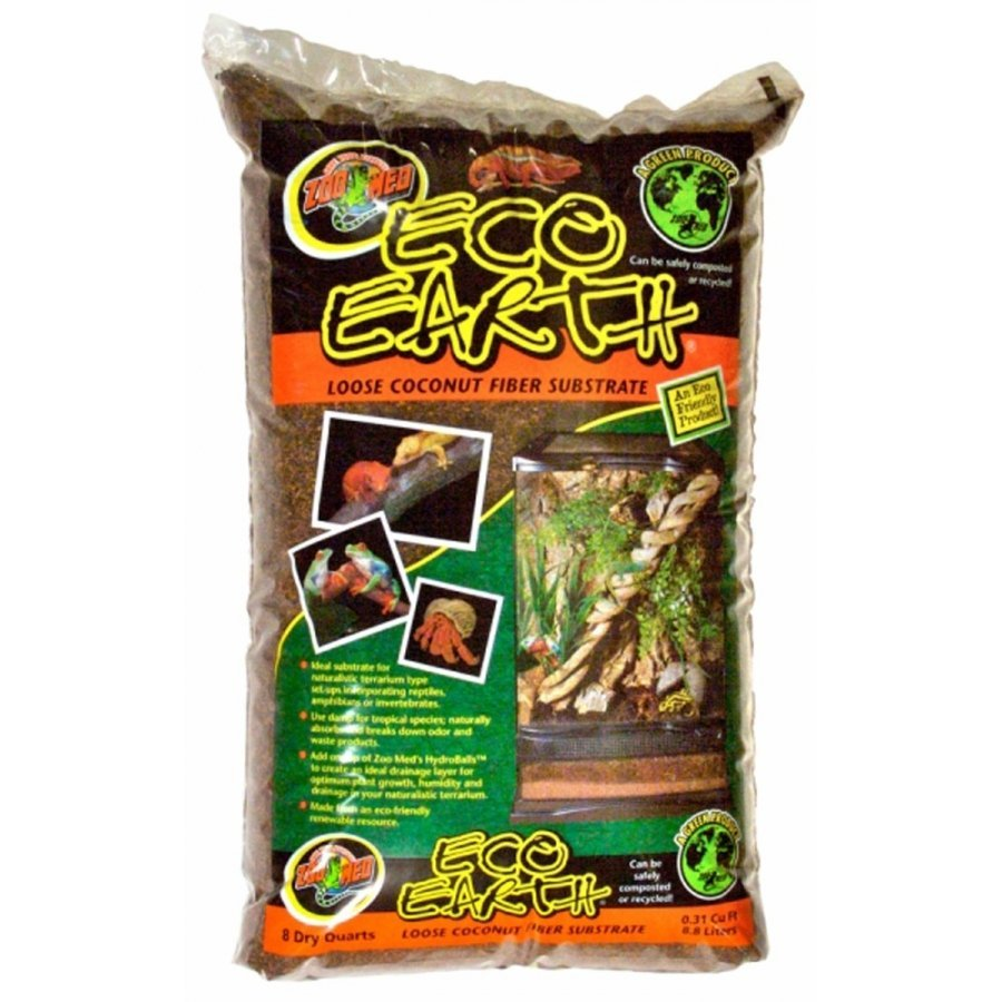 Eco Earth Loose Coconut Fiber Substrate For Terrariums 8 Qt.
