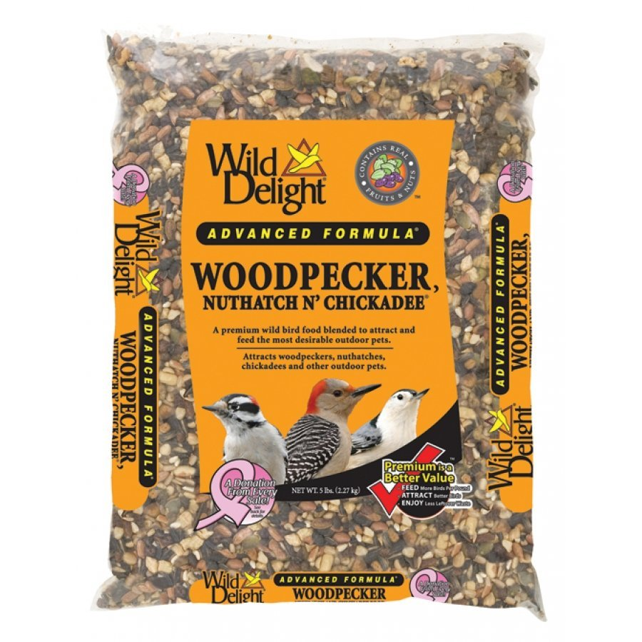 Wild Delight Woodpecker Nuthatch N Chickadee Food / Size 5 Lb.