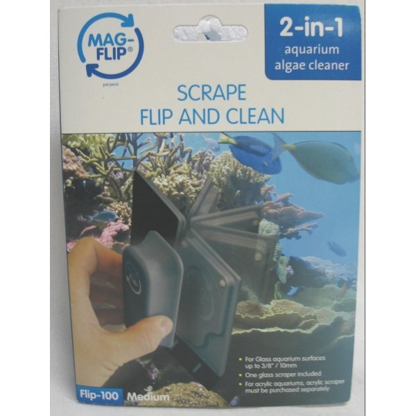 2-in-1 Glass Aquarium Algae Cleaner