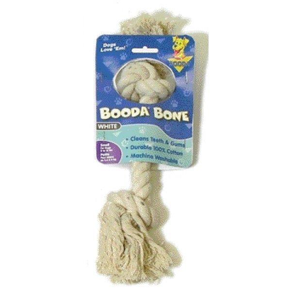 Booda Bone Dog Tug Toy / Size White Small