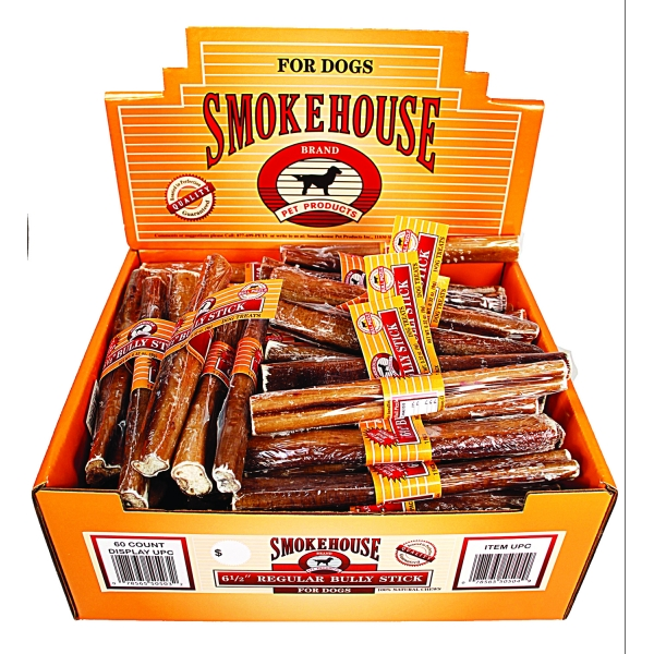 usa made bully sticks s w 6 5 inch 60 pc dog products gregrobert. Black Bedroom Furniture Sets. Home Design Ideas