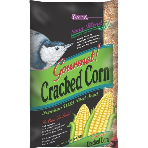 Songblend Cracked Corn Bird Seed 4 Lb. Bag Case Of 12