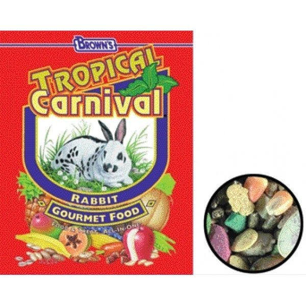 Tropical Carnival Rabbit Food / Size 20 Lbs