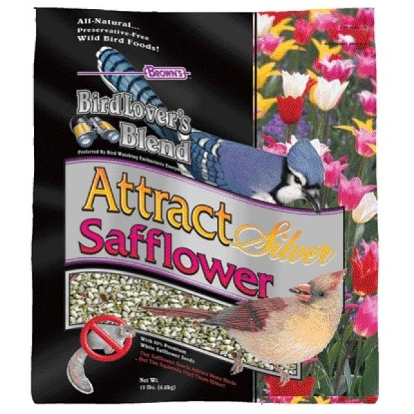 Birdlovers Blend Attract Silver Safflower / Size (15 lbs.) Best Price