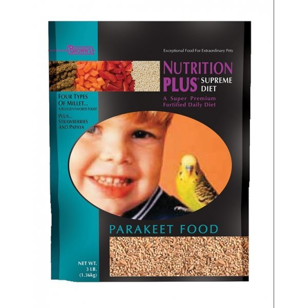 Nutrition Plus Supreme Parakeet Food 3 Lbs