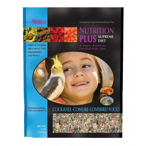 Nutrition Plus Supreme Cockatiel Conure Lovebird 3 Lb