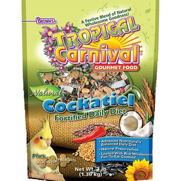 Tropical Carnival Natural Cockatiel - 2.5 lbs Best Price