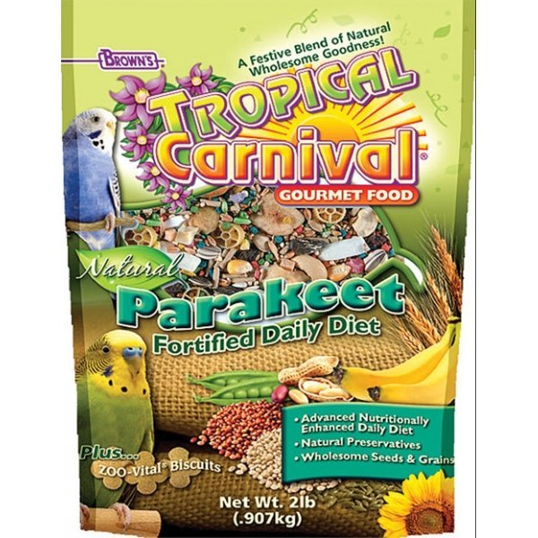 Tropical Carnival Natural Parakeet - 2 lbs Best Price