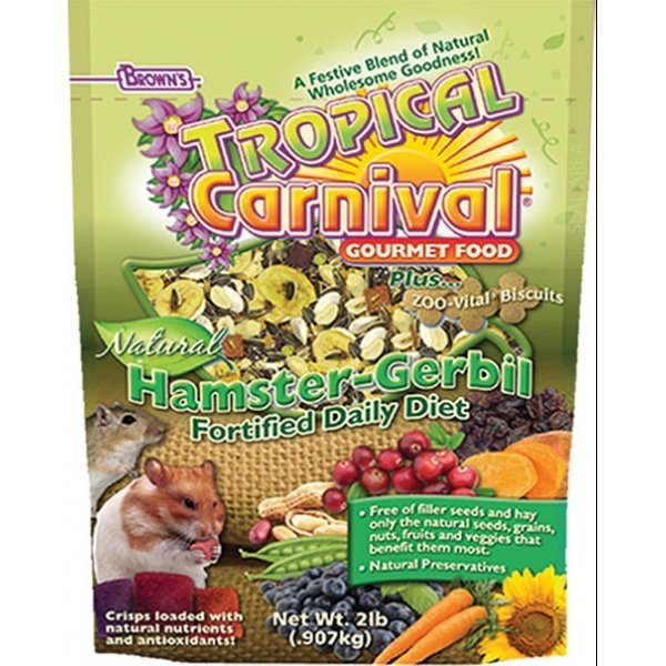 Tropical Carnival Natural Hamster and Gerbil - 2 lbs.