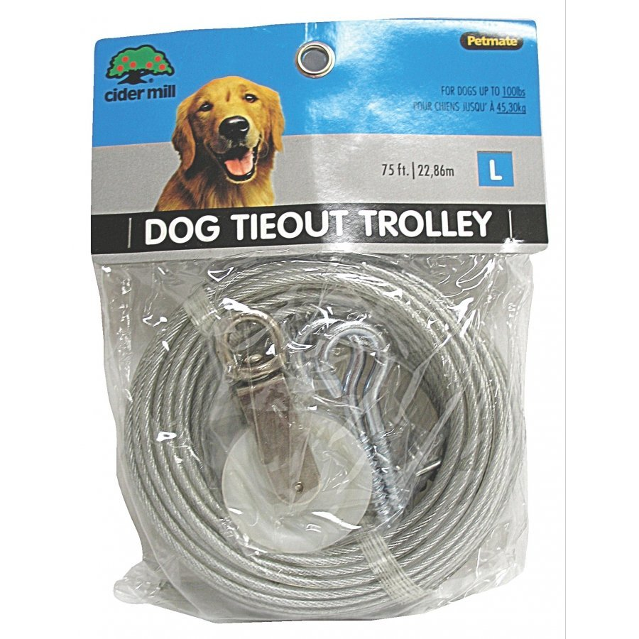 Vinyl Dog Trolley / Runner For Large Dogs / Length 75 Feet