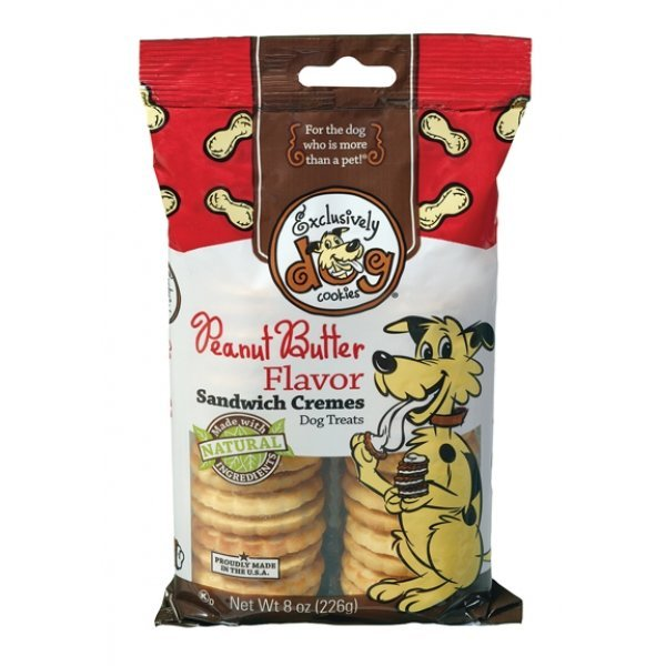 Sandwich Cremes Dog Treats / Flavor Peanut Butter
