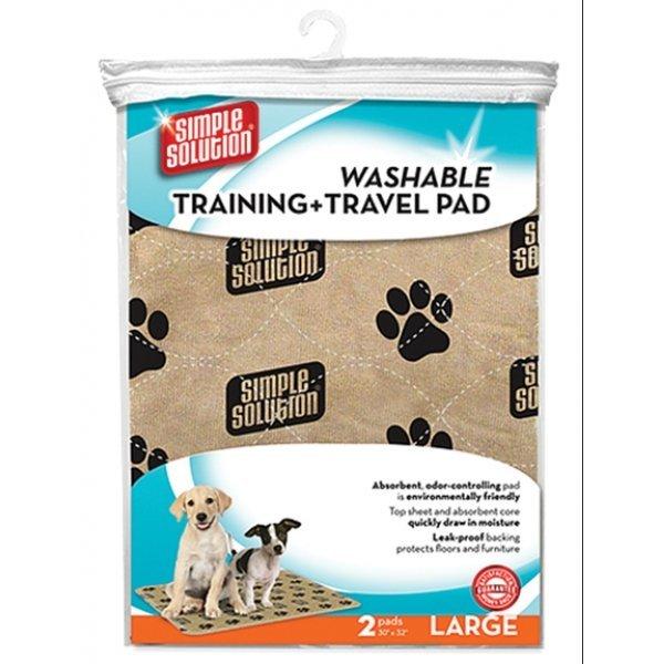 Simple Solution Washable Training Travel Pad / Size Large / 2 Pk.