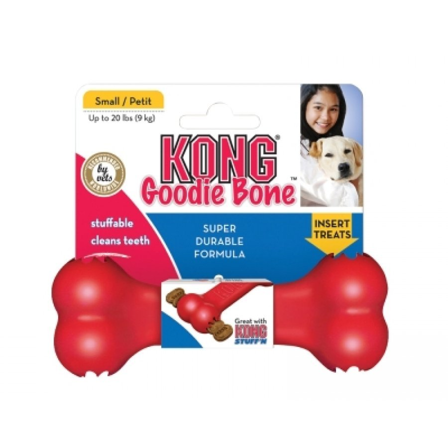 Kong Red Goodie Bone Dog Treat Toy / Size Small