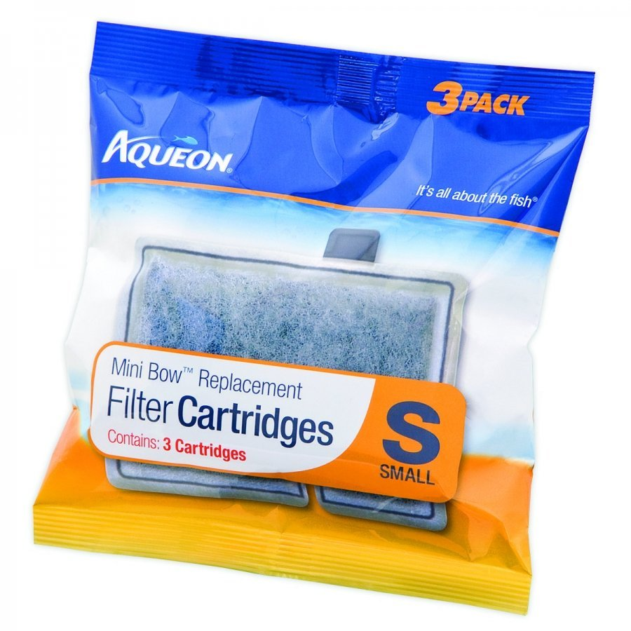 Aqueon Mini Bow Filter Cartridge 2.5 5.0 3 Pk.