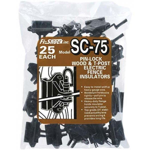 Pin Lock Wood and T-post Insulator - 25 pk Best Price