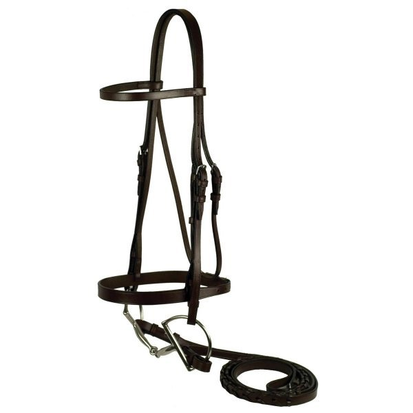 Gatsby Flat Snaffle Bridle / Size (Horse) Best Price