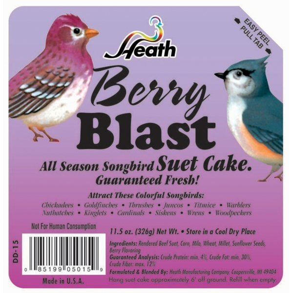 Heath Berry Blast Suet Mix 12 Oz.
