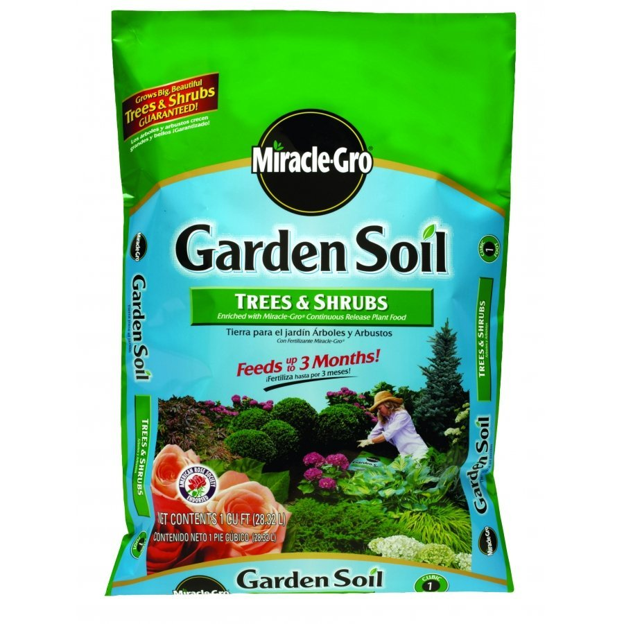 Miracle-Gro Garden Soil for Trees and Shrubs - 1 CUBIC ft. Best Price