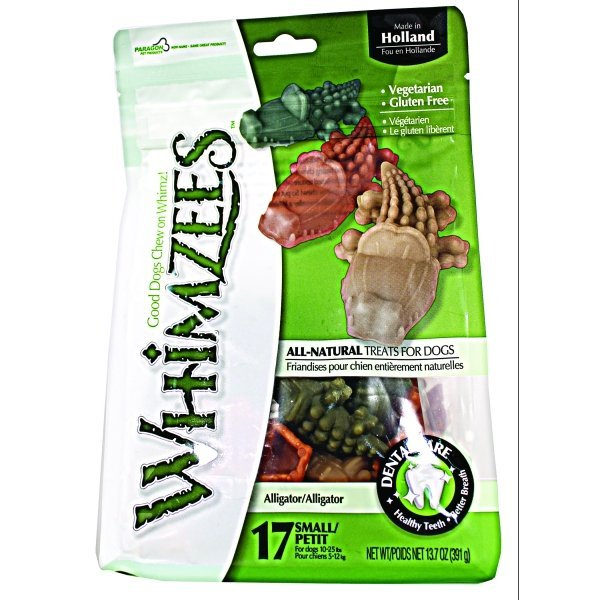 Whimzees Dog Treats / Size Small / 27 Ct. / Alligator